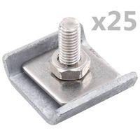 vidaXL Rastermatverbinding 25 sets antraciet