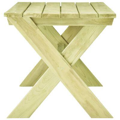 vidaXL Tuintafel 170x73x70 cm geïmpregneerd grenenhout