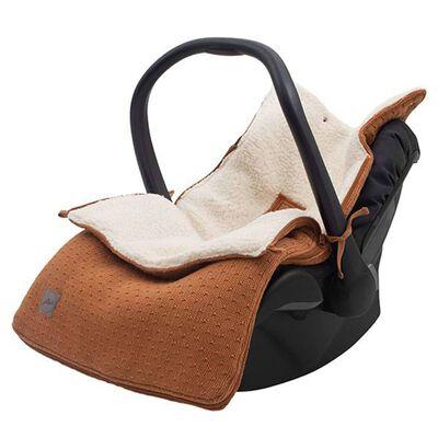 Jollein Babyvoetenzak voor autostoel/loopwagen Bliss Knit karamelkleur