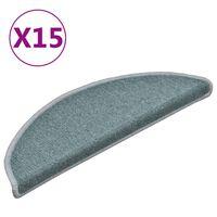 vidaXL Trapmatten 15 st 56x17x3 cm blauw
