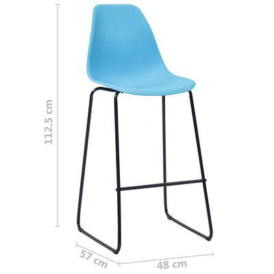 vidaXL Barstoelen 4 st kunststof blauw