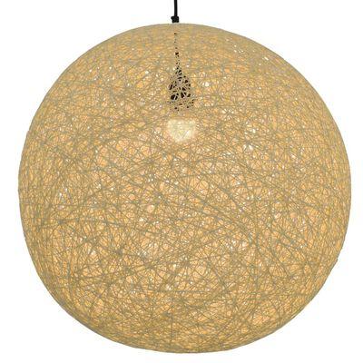 vidaXL Hanglamp rond E27 55 cm crème