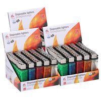 150x Aanstekers in verschillende kleuren 2 x 1 x 8 cm - Sigaretten