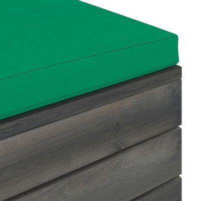 vidaXL 12-delige Loungeset pallet met kussens massief grenenhout