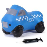 Jamara Skippybal politieauto met pomp blauw