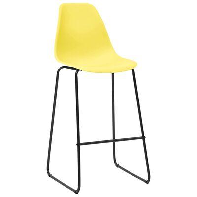 vidaXL Barstoelen 2 st kunststof geel