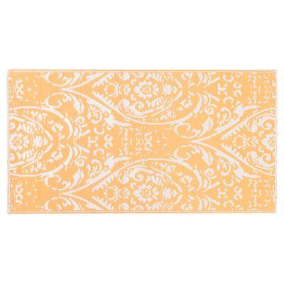vidaXL Buitenkleed 190x290 cm PP oranje en wit
