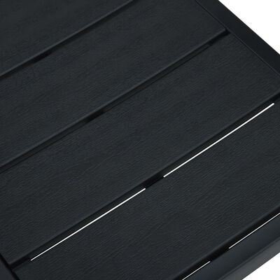 vidaXL Tuinstoelen 4 st hout-look HDPE zwart