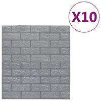 vidaXL 3D-behang zelfklevend 10 st bakstenen antracietkleurig