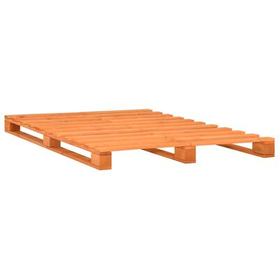 vidaXL Bedframe pallet massief grenenhout bruin 160x200 cm