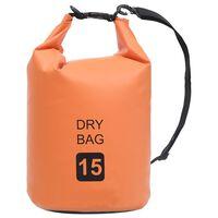 vidaXL Drybag 15 L PVC oranje