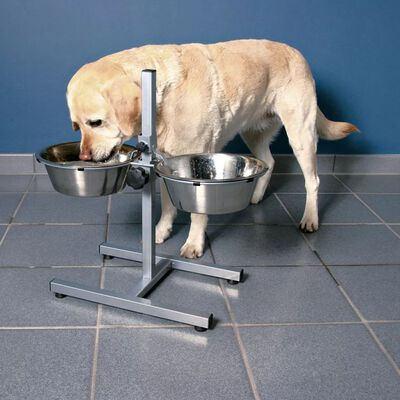 TRIXIE Verstelbare standaard voerbakken hond 9 L 28 cm 24923