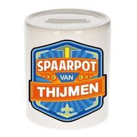 Kinder spaarpot voor Thijmen - keramiek - naam spaarpotten