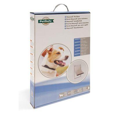 Petsafe hondenluik tot 45 kg aluminium wit 640