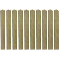 vidaXL 20 st Heklatten 80 cm geïmpregneerd hout