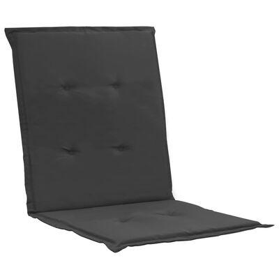 vidaXL Tuinstoelkussens 2 st 100x50x3 cm antraciet