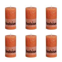 Bolsius Rustieke Stompkaarsen 130 x 68 mm 6 stuks oranje
