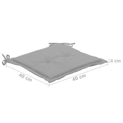 vidaXL Tuinstoelkussens 4 st 40x40x4 cm grijs