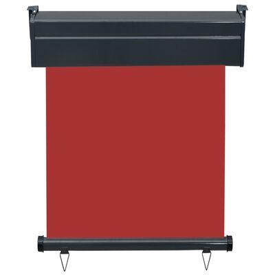 vidaXL Balkonscherm 60x250 cm rood
