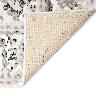 vidaXL Vloerkleed 120x170 cm PP grijs en zwart