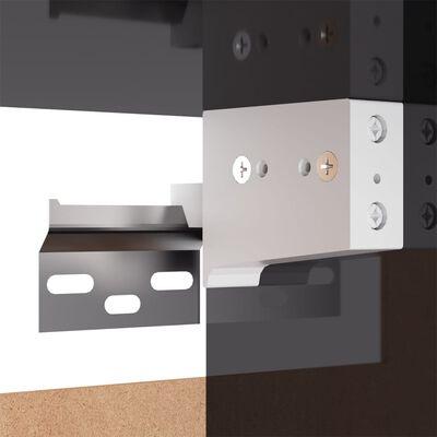 vidaXL Tv-meubel 30,5x30x90 cm spaanplaat hoogglans grijs