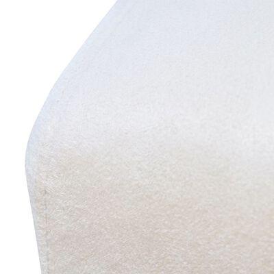 vidaXL Eetkamerstoelen 6 st stof crèmewit