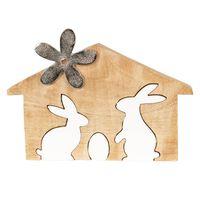 Clayre & Eef Decoratie konijnen 26x17x2 cm