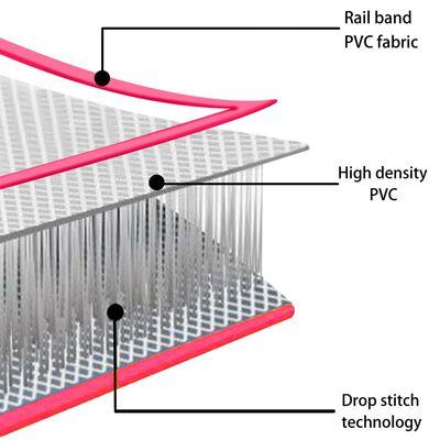 vidaXL Gymnastiekmat met pomp opblaasbaar 700x100x20 cm PVC roze