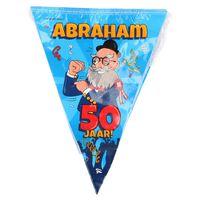 50 Abraham party vlaggenlijn 10 meter - 50 jaar verjaardag