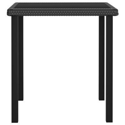vidaXL Tuintafel 70x70x73 cm poly rattan zwart