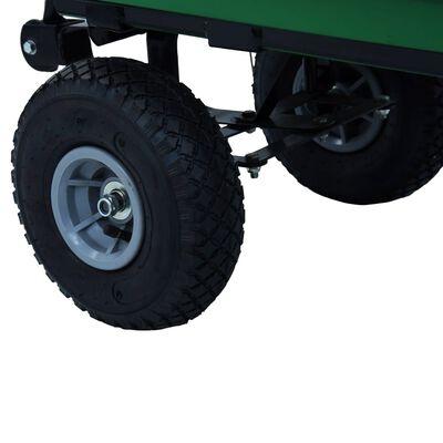 vidaXL Tuinkiepwagen 300 kg 75L groen