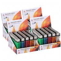 200x Aanstekers in verschillende kleuren 2 x 1 x 8 cm - Sigaretten