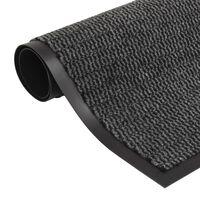 vidaXL Droogloopmat rechthoekig getuft 80x120 cm antraciet