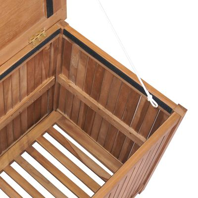 vidaXL Opbergbox 120x50x58 cm massief teakhout