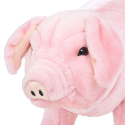 vidaXL Speelgoedvarken staand XXL pluche roze