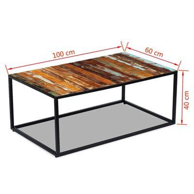 vidaXL Salontafel 100x60x40 cm massief gerecycled hout