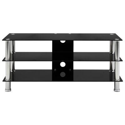 vidaXL Tv-meubel 90x40x40 cm gehard glas zwart