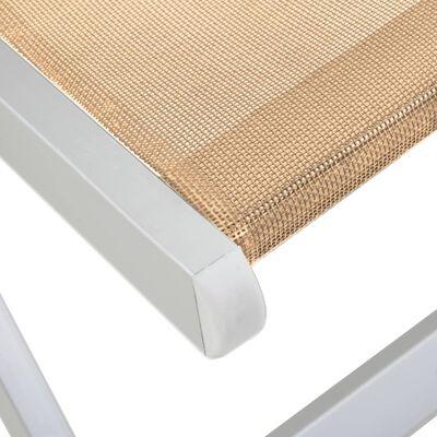 vidaXL Strandstoelen inklapbaar 2 st aluminium en textileen crème