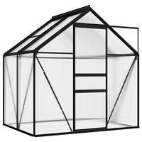 vidaXL Broeikas 2,47 m² aluminium antracietkleurig