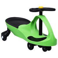 vidaXL Loopauto wiebelend met toeter groen