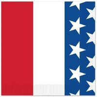 16x Amerika/verenigde Staten Landen Vlag Thema Servetten 25 X 25 Cm -