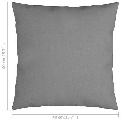vidaXL Sierkussens 4 st 40x40 cm stof grijs