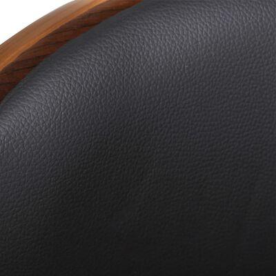 vidaXL Barkruk gebogen hout en kunstleer