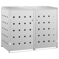 vidaXL Containerberging dubbel 240 L roestvrij staal