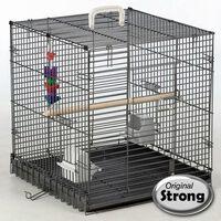 """Strong Bird Carrier """"Traveller"""" Silverstone Grey 46x48x52 cm 99034"""