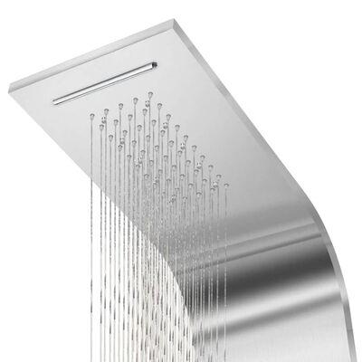 vidaXL Douchepaneelsysteem gebogen roestvrij staal
