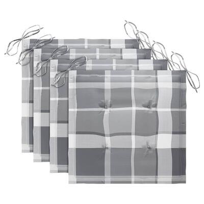 vidaXL Tuinstoelen 4 st inklapbaar met kussens massief teakhout