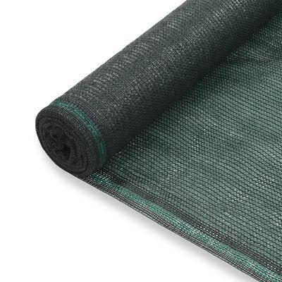 vidaXL Tennisscherm 1,2x25 m HDPE groen