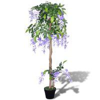 Kunstplant blauwe regen met pot 120 cm
