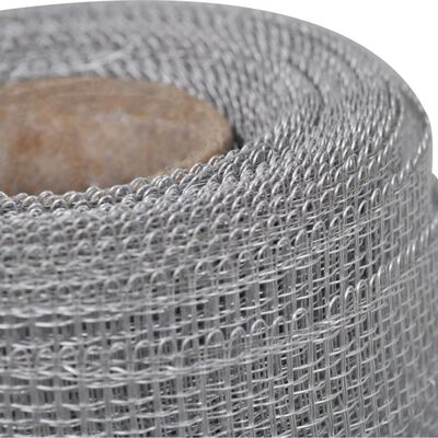 vidaXL Gaas 100x500 cm aluminium zilverkleurig